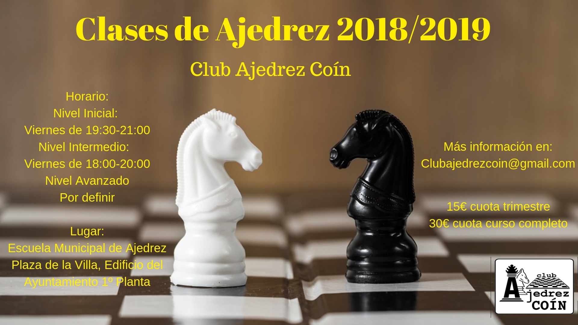 Clases de Ajedrez 2018-2019